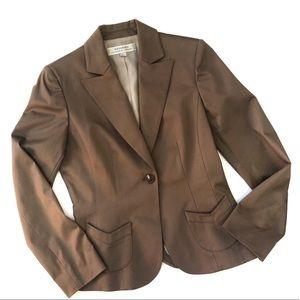 Tahari   One Button Brown Blazer Size 4